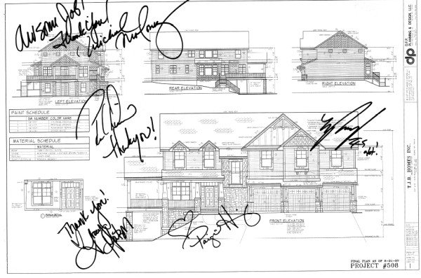 EMHE Cast Autographed Home Plan
